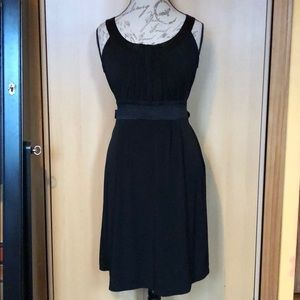 Black modest dress with bow on back size small